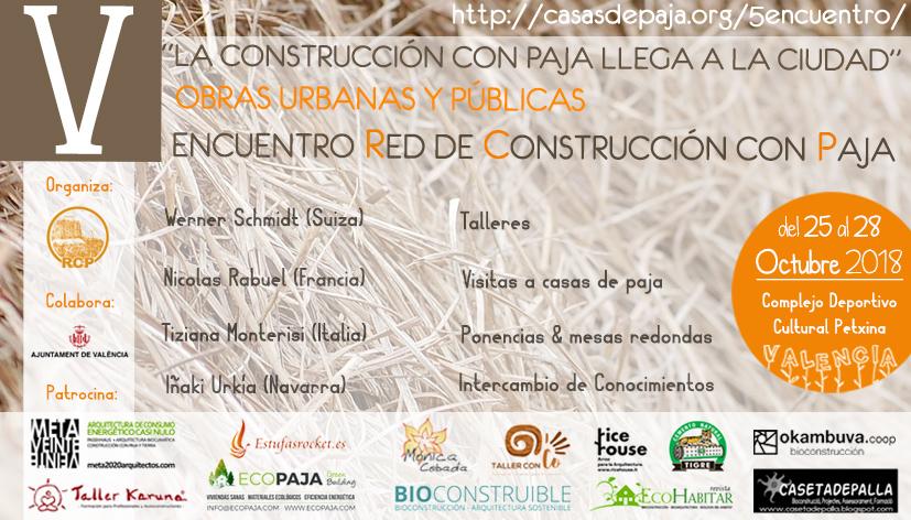 V Encuentro De La Red De Construcción Con Paja (RCP) En Valencia Octubre 2018